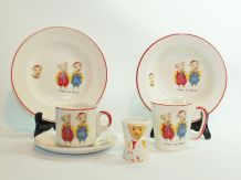 "1960's ""Pinky And Perky"" Childrens Crockery Set"